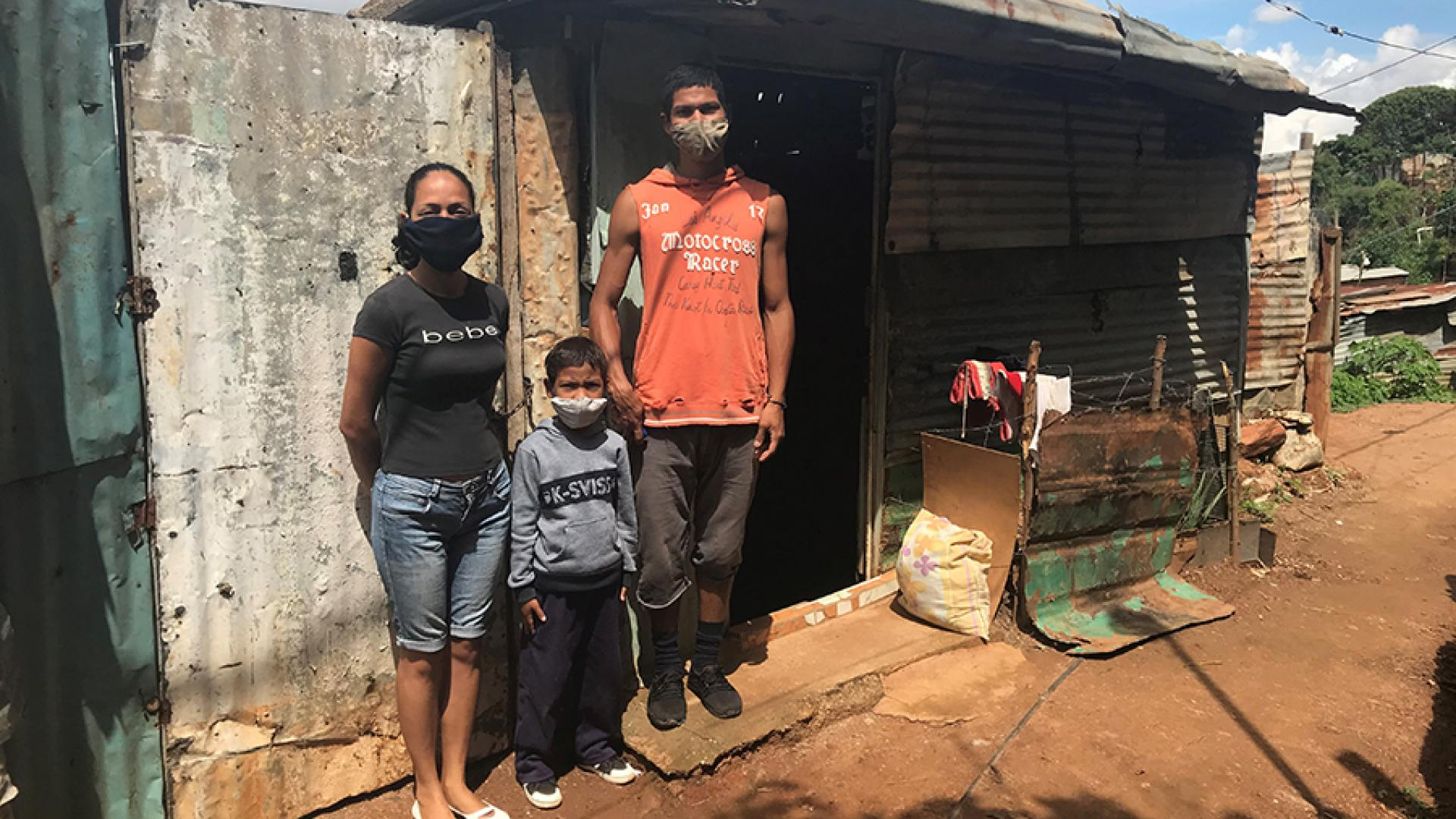 The Contreras Family struggles to have basic access to water, gas and food. As both parents are unemployed, they survive on the food box from the government, which is completely insufficient (La Pastora, at Altos de Lidice community in Caracas).